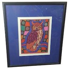 Steve Shepard pastels on paper art, Steve Shepard owl art
