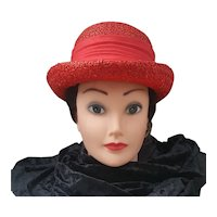 Jan Leslie hat, Vintage red Jan Leslie Hat