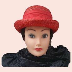 Jan Leslie hat, Vintage red Jan Leslie Hat