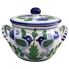 Sigma Taste Setter Italian bowl with blue and white Lovebirds