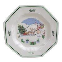 Nikko Japan Up on the Housetop Christmastime Christmas Spirit Collectibles Platter
