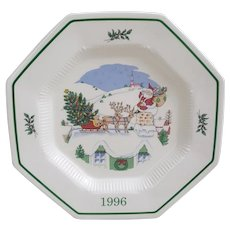 Nikko Japan Up on the Housetop Christmastime Christmas Spirit Collectibles Platter