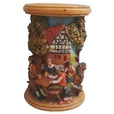 Folk Art German hand made candle