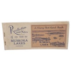1930's Diary Post Card Book of the Muskoka Lakes Canada