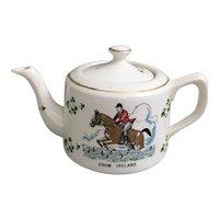Carrigaline Pottery from Ireland, Carrigaline Horse Jumping Tea Pot