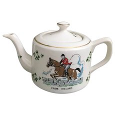Carrigaline Pottery from Ireland, Carrigaline Horse Jumping Tea Pot