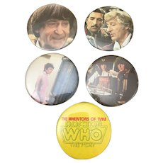 Dr. Who Pin back button collection