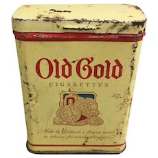 Vintage Old Gold Cigarette Tin