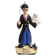Harry Potter With Hedwig Owl Christmas Ornament Warner Bros 2000