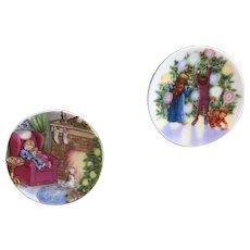 Hallmark Waiting for Santa and Light Shines at Christmas mini plates