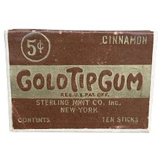 Vintage Gold Tip Gum box early century advertisement