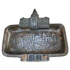 Colorful Colorado Souvenir metal ashtray