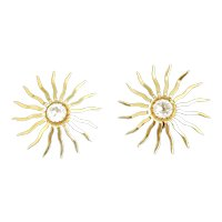 Beautiful 1950's Sarah Coventry Fascination Earrings, Sarah Coventry clip on earrings