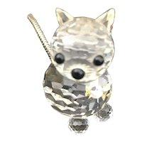 Swarovski Silver Crystal cat