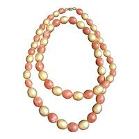 Monet beaded marble necklace, vintage Monet beaded necklace