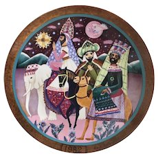 1982 Hedi Keller plate Dem Stern Folgen Follow The Star Holiday plate