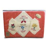 Vintage unopened Art Embroidery Co Australia mat and napkin set