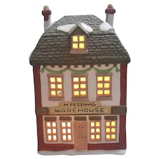 1986 Dept 56 Fezziwigs Warehouse Dickens village Series The Heritage Village Collection