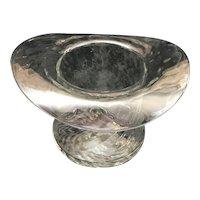 Large Top Hat shaped glass vase/bowl