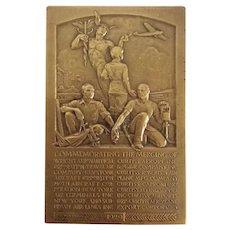 Commemorative Brass Plaque Wright Aeronautical Corporation