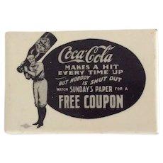 Vintage Coca Cola Baseball Pocket Mirror