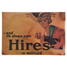 Vintage Hires Root Beer Pocket Mirror