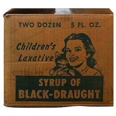 Old Medicine Bottles of Syrup of Black Draught-Chattanooga Medicine Company