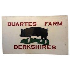 Folk Art Berkshires Hog Metal Sign