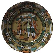"Deldare Ware ""Ye Olden Times"" Buffalo Pottery Plate-1908"