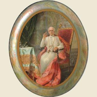 Pope Leo XIII Oval Tray