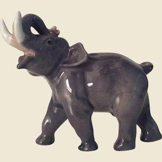Small Royal Copenhagen Porcelain Elephant Figurine