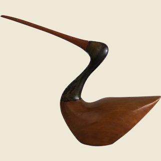 Hand Carved Hardwood Shorebird by A. Eisenbrand