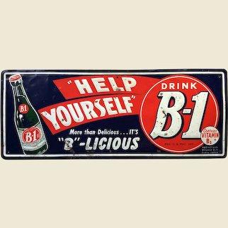 Tin B-1 Lemon Lime Soda Sign