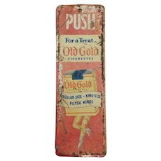 Old Gold Cigarettes Door Push Tin Plate