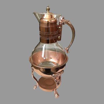 Vintage Princess Copper Heated Carafe Ensemble