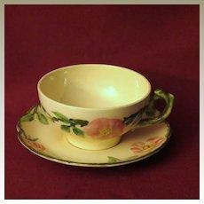 Franciscan Desert Rose Teacup and Saucer 1939-1947