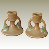 Roseville Tuscany Pink Candle Holders