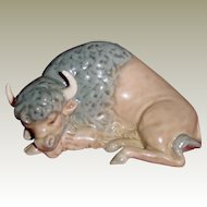 Beautiful Lladro Miniature Bison, Resting 5312
