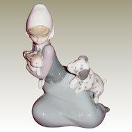 Lladro 'Dog and Cat' Little Friskies Figurine Model 5032