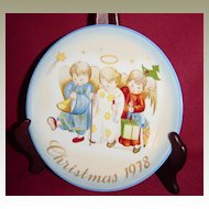 Schmid Sister Berta Hummel Heavenly Trio Christmas 1978 Plate