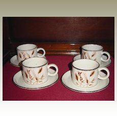 Midwinter Stonehenge Wild Oats Coffee Cups and Saucers
