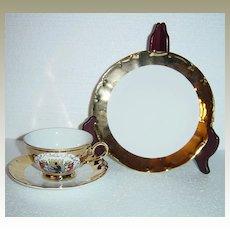 Schedel Bavaria Gold Encrusted Berlin Porcelain Teacup Set
