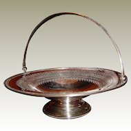 Beautiful James Dixon & Sons Electroplated Silverplate Basket