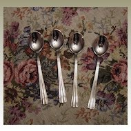 J Axel Jansson Set of Silverplated Demitasse Spoons from Sweden