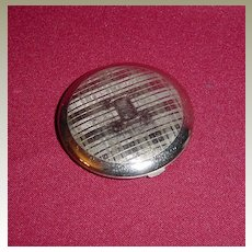 Richard Hudnut Engine Turned Silvertone Powder Compact