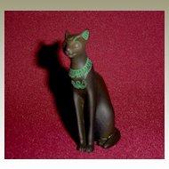 Franklin Mint Curio Cabinet Egyptian Cat