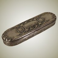 Antique Tiffany Sterling Silver Oblong Dresser Box