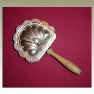 Silver on Copper Silent Butler with Wooden Handle