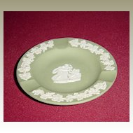Wedgwood Sage Green Jasperware Ashtray with Grapevines and Classical Scene