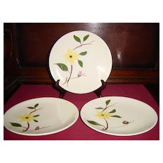 Southern Potteries Blue Ridge Gilleyflower Salad Plates
